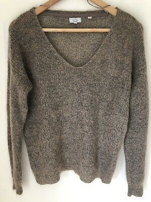 63/% Cotton Cable Poncho Women/'s BNWT Fat Face Nat//Sand