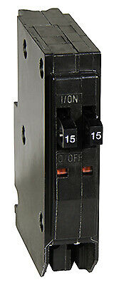 SQUARE D BY SCHNEIDER ELECTRIC QOT 15-Amp Single-Pole Tandem Circuit Breaker