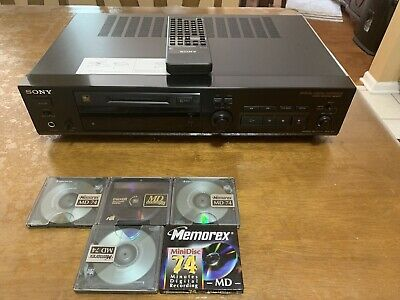 Sony MDS-302 Mini Disc Player With Remote