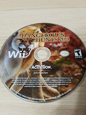 Cabela's Dangerous Hunts 2013 - Nintendo Wii - Disc Only - Tested - Fast Ship!