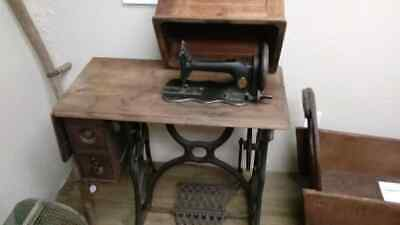 "Antique Singer ""Coffin Top"" Treadle Sewing Machine"
