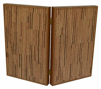 Manopoulos Natural Cork Backgammon Set - Gift for wine lovers - Olive wood chips
