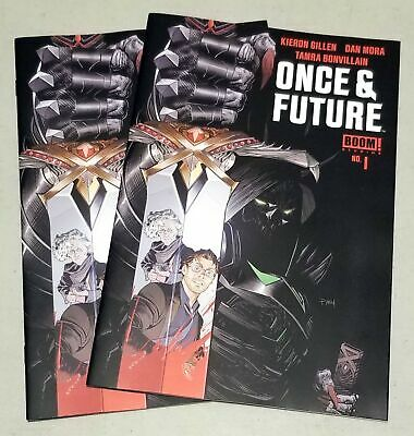 Once And Future #1 First Printing 2 Book Lot Boom! Studios Htf Sold Out Gillen