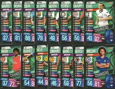 Match Attax 2019 2020 19 20 Wonderkids / Superstars / Game Changers & Strikers