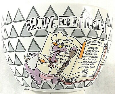 2019 EPCOT Food & Wine Expo RECIPE For A FIGMENT Ceramic Mixing Bowl New PLUS