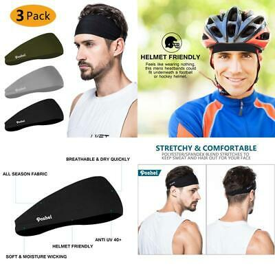 Cro COOLOO Mens Headband 2 Pack Guys Sweatband Sports for Working Out Running