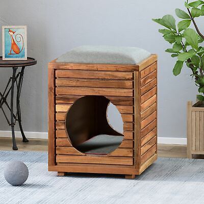 Astounding Pet Bed Bench Ottoman Cat Dog Small Furniture Dogs Cats Gmtry Best Dining Table And Chair Ideas Images Gmtryco