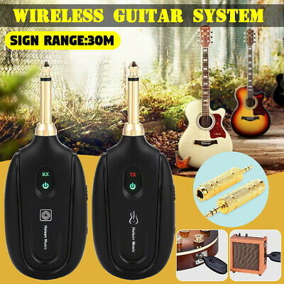 2.4G Portable UHF Wireless Transmitter Receiver System Electric For Guitar Bass