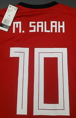 Egypt Adidas World Cup 2018 Home Soccer Jersey Shirt #10 Salah Xl $130 Liverpool