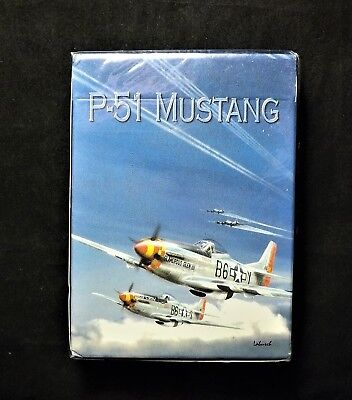 """Hoyle P-51 Mustang PLAYING CARDS / """"Original"""" Born Aviation / HAP ARNOLD BOXED"""
