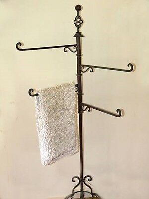 FRENCH TOWEL RACK   large WROUGHT IRON  4 arms NEW quality item