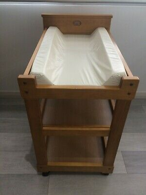 Baby wooden change table with mat