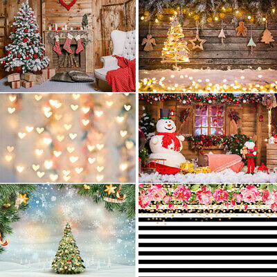 Seamless Christmas Trees Socks Snowman Fireplace Background Wooden Wall Backdrop