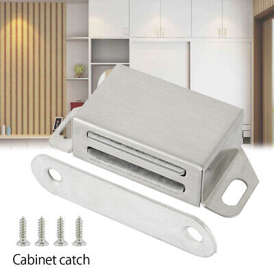 NEW Magnetic Cabinet Catch set Cupboard Wardrobe DoorCatch Strong Steel Magnets