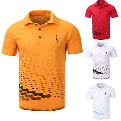 Mens Cotton Slim Fit Polo Short Sleeve T-Shirt Summer Casual Muscle Tee Tops