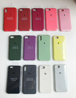 Genuine Silicone/Leather Case Ultra-Thin Cover For iPhone X XS Max 6 7 8 Plus XR