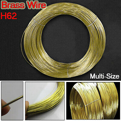 0.3/0.5/0.8/1/1.2/1.5/1.8/2/2.5/3mm Diameter Pure Brass Wire Round Solid 1/3/5M