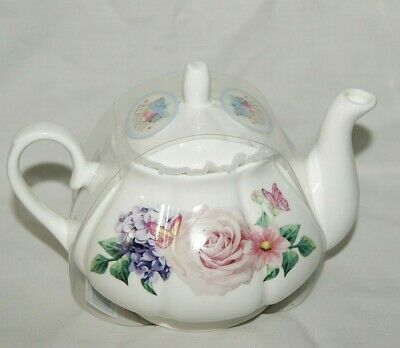 Blooming Beautiful Teapot 2 Person Floral Design Free UK Postage Brand New