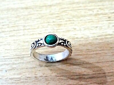 Antiques silver plated Ethnic rings with assorted natural gemstone beads stones
