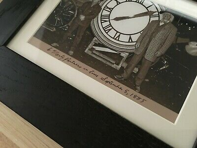 Photo framed Back To The Future 3 Clock Tower Hill Valley 1885 Gift Doc to Marty