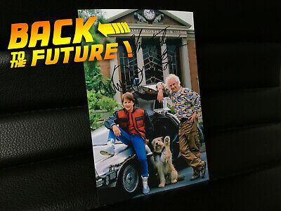 BTTF Photo Back to the Future 2 hoverboard Delorean Marty Doc Einstein autograph