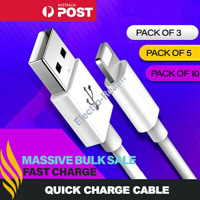 Fast Charger Cable Cord Quick Charge Lead 2M 3M For iPhone 11 Pro Max X 8 7 iPad