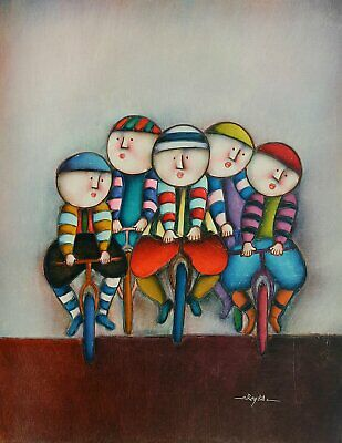 """16""""x20"""" Oil Painting on Canvas, J Roybal Figures, Genuine Hand Painted"""