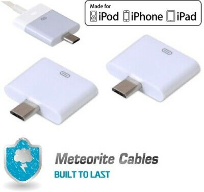 2x 30Pin Female to Micro USB 5Pin Male Converter Adapter for Apple iPhone 4S