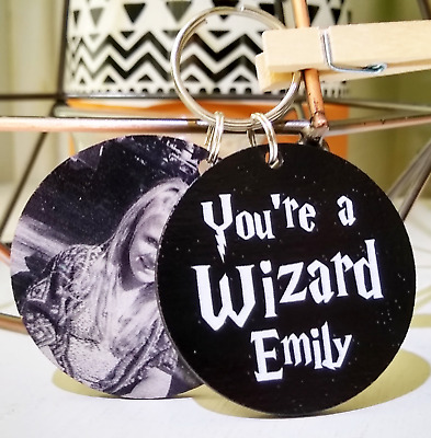 Personalised Custom Harry Potter Keyring Gift Friendship Present You're a Wizard