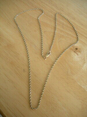 """14K (585) Yellow Gold Twisted Rope Chain Necklace ~ 21 1/2"""" ~ 5g"""