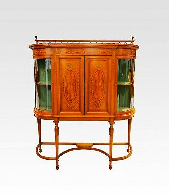 A Fine Quality Satinwood And Inalid Display Cabinet By Maple & Co