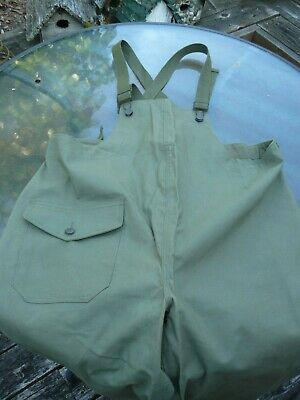 WWII U.S. Military Wet Weather Trousers Dated Nov 30 1944 Size Medium - 1