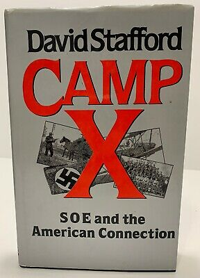 Vintage 1987 CAMP X Nazi Germany Hardcove Book Hitler RARE By David Stafford