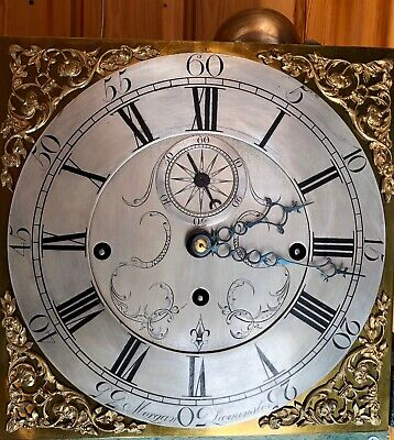 Antique Musical Longcase/Grandfather Clock Movement On 9 Bells (Dating 1773)