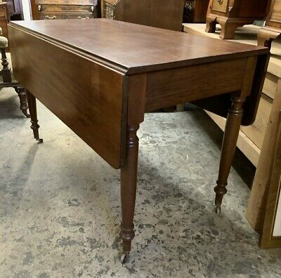 Victorian Mahogany Pembroke / Extending Drop Leaf Dining Table