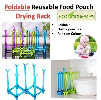 Drying Rack for Reusable Food Pouches Squeeze Pouch Baby Storage Bag bottle