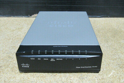 CISCO RV042 HOME Small Business 10/100 Dual WAN 4-Port VPN Router Tested  Working