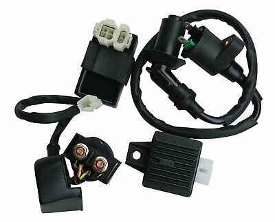 Ignition Coil AC CDI Solenoid Relay Voltage Regulator For GY6 49cc 50cc 150cc