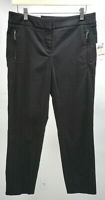 Style & Co Artful Femme Mid Rise Ankle Pant in Deep Black, Size 4