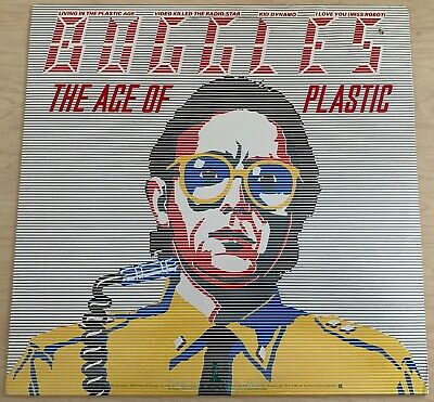 BUGGLES The Age Of Plastic (1980) LP Island Records Synth Pop Electronic CUTOUT