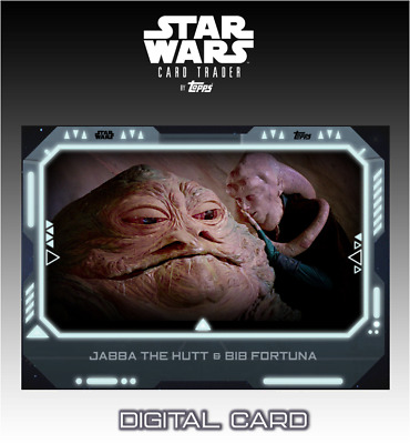 2019 ALLIANCES OF EVIL WHITE JABBA THE HUTT/BIB FORTUNA Topps Star Wars Digital