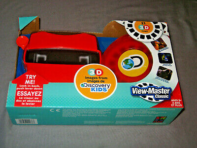View-Master Viewmaster 3D Basic Fun Schylling Discovery box set 3 reels, viewer
