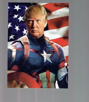 Donald Trump Make America Great Again Rare Captain America Style Custom Card