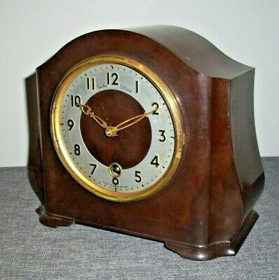 Antique 1930's Smiths Enfield Bakelite Mantel Clock (Vintage Collectable Time)