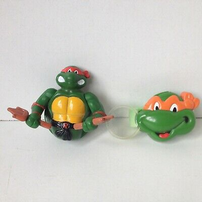 vintage tmnt TEENAGE MUTANT NINJA TURTLES BURGER KING TOYS 1990 KIDS CLUB