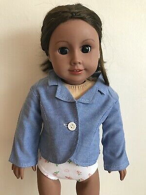 """18"""" Inch Doll Girl Blue Summer Jacket American Girl Our Generation"""