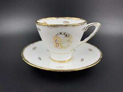 Royal Stafford Rebekah Tea Cup Saucer Set Bone China England