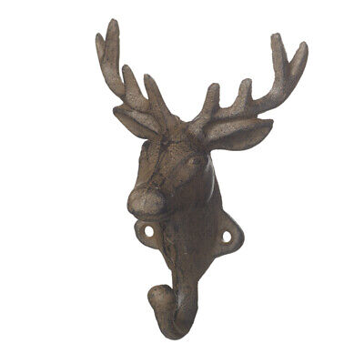 Cast Iron Rustic Style Deer/ Stag Head Wall Hook.Ideal Gift