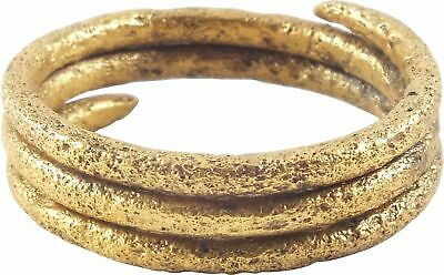 ANCIENT VIKING COIL RING 850-1050 AD Size 10 1/4