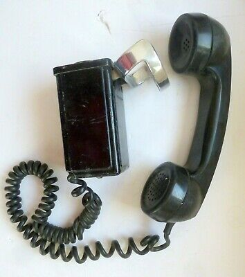 Vintage Bell System Western Electric TELEPHONE EQUIPMENT Rotary dial Wall
